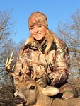 Congrats to Ashley Nichols on her first buck - 10 pt. taken in Kirksville 11/21/14