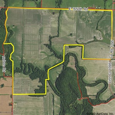 790 acres; E. 1650th Rd; Linn County; Kansas